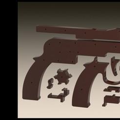rubberbandrender.JPG Télécharger fichier STL Pistolet à bande de caoutchouc • Plan pour impression 3D, Stevejawel