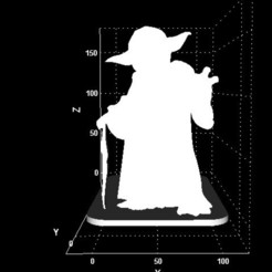 Download 3D printer templates Yoda display, Stevejawel