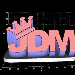 JDM.jpg Télécharger fichier STL JDM affiche la version extrudée • Modèle pour imprimante 3D, Stevejawel