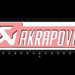 Descargar modelo 3D gratis Llavero de Akrapovic, Stevejawel