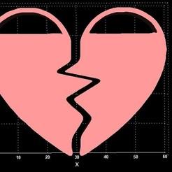 Download free 3D printing templates Broken Hearts, Stevejawel