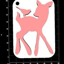 Télécharger fichier STL gratuit Porte-clés Bambi, Stevejawel
