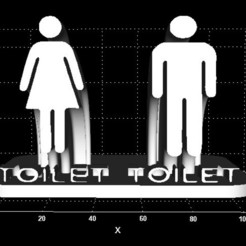 Download free 3D printing templates Toilet Sign (Arc support), Stevejawel