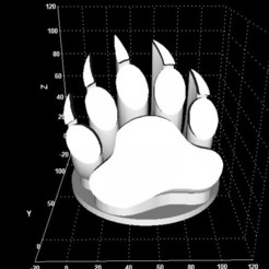 Download free 3D model Grizzly bear claw display, Stevejawel