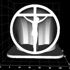 jezus cross pic.jpg Télécharger fichier STL Affichage du signe de contour Jezus • Modèle pour imprimante 3D, Stevejawel