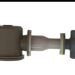 piping assembly render.JPG Download STL file Pipes - filter - reducer -  regulator • 3D print design, Stevejawel