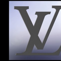 lvrender2.JPG Télécharger fichier STL Logo Louis Vuitton • Design imprimable en 3D, Stevejawel