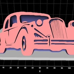 Download 3D printing templates Old vehicle display with supported convex arc. , Stevejawel