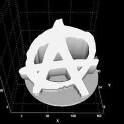 Download free 3D printer designs Anarchisme sign/display, Stevejawel