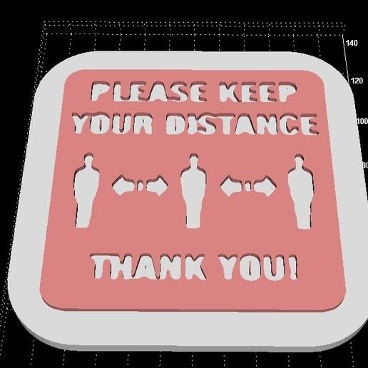 Descargar Modelos 3D para imprimir gratis Por favor, mantenga la distancia texto/estéreo/señal, Stevejawel
