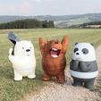 Download free STL file WE BARE BEARS • 3D printing design, mad_engineer