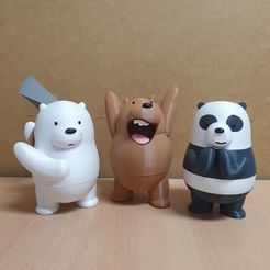 Download free 3D printing designs WE BARE BEARS, mad_engineer