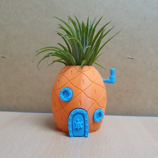 Download free 3D printing designs Spongebob Pineapple House Planter, mad_engineer