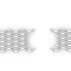 Download 3D print files Audi honeycomb grill 3D print model, domesper