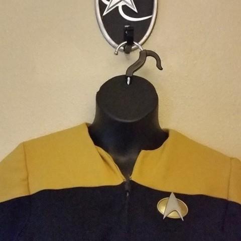Download free STL files Star Trek Next Gen Communicator Badge, hterefenko