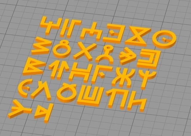 85d63f923f9cb2f47391a6ecd5a46075_display_large.jpg Download free STL file Wakandan Font • Model to 3D print, hterefenko