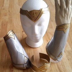 Download free 3D printing templates Wonder Woman Bracer Set, hterefenko