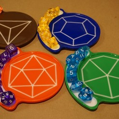 STL files D&D Dice Coaster Set, JonnysWay