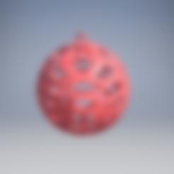 3D print model Christmas ball ornament, danpumpa