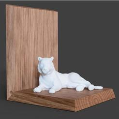 tiger-bookend.jpg Download free STL file Tiger • 3D printing design, mmOne