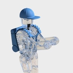 Download free 3D printer model Robot Backpack and Hat, mmOne