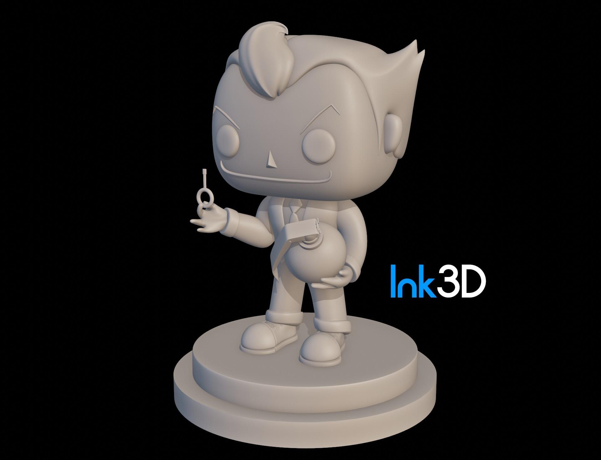 joker3.jpg Download free STL file Funko Joker • Template to 3D print, Ink3D