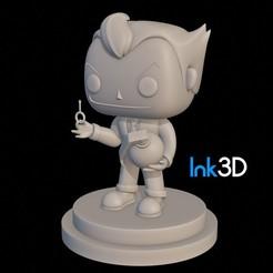 Free 3D print files Funko Joker, InkFactory