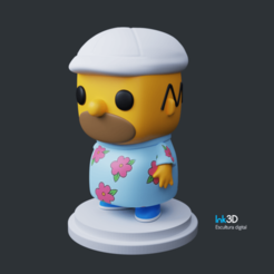 Descargar modelo 3D gratis Homero, Ink3D