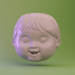 1.png Download STL file Good guy doll head - Chuky • Model to 3D print, Ink3D