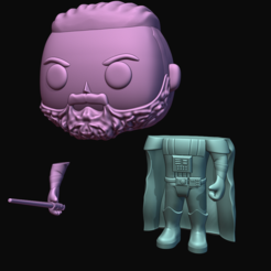 23443.PNG Download STL file Darth vader with custom head. • 3D printer object, Ink3D
