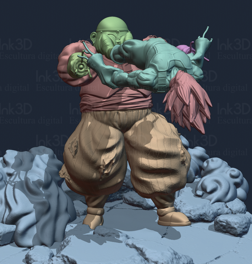 render-3.png Download free STL file Dragon ball diorama • 3D printer template, Ink3D