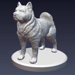 descarga3.PNG Télécharger fichier STL Chien d'Akita • Objet pour impression 3D, Ink3D