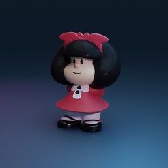 mafalda.jpg Download STL file Mafalda • 3D printable object, Ink3D