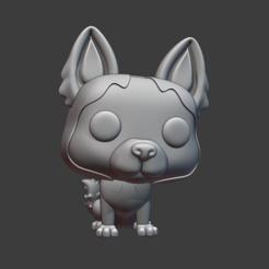 23443.PNG Download STL file Husky • 3D printing template, Ink3D