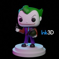 Download free 3D printer files Funko Joker, Ink3D
