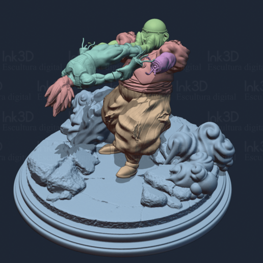 render-1.png Download free STL file Dragon ball diorama • 3D printer template, Ink3D