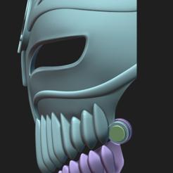 Captura2.PNG Download STL file Hollow Ichigo Kurosaki mask • Design to 3D print, Ink3D
