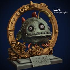 4444.PNG Download free STL file Igor the radioactive fish • 3D printing design, Ink3D
