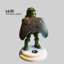 234.png Download free STL file Master chief holder • 3D printable template, Ink3D