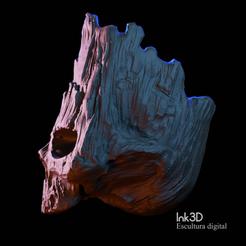 100514865_2952688914819849_687342368206094336_n1.png Download STL file Groot skull • 3D print template, Ink3D