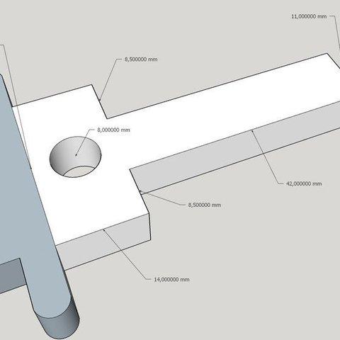 Download free STL handbrake handle DIY Hoonigan for hydraulic