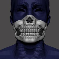 Descargar modelos 3D skull mask cobid, carlos70