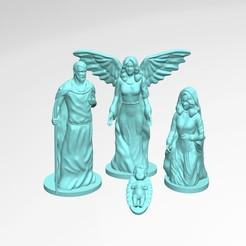 angel.jpg Télécharger fichier STL Naissance de Noël naissance de la vierge jésus pecebre • Plan pour imprimante 3D, carlmc