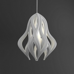 1.jpg Download free OBJ file Hanging Lamp  • 3D printable object, mojtabaheirani
