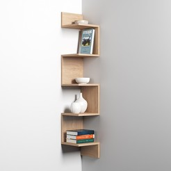 Preview 2.jpg Download free STL file Corner Shelf • 3D printing design, mojtabaheirani