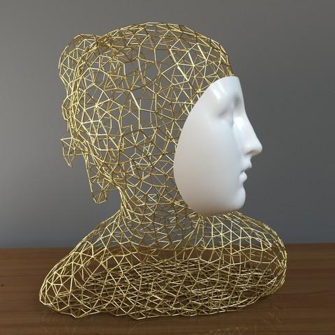 3D printer files modern sculpture, mojtabaheirani