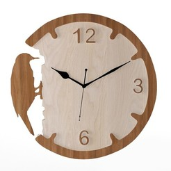 preview1.jpeg Download free OBJ file DECORATIVE WALL CLOCK - 11 • 3D printer model, mojtabaheirani