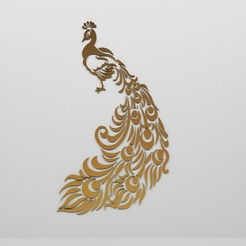 Preview.jpg Download OBJ file Peacock decorative Panel • 3D printer object, mojtabaheirani