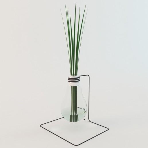 Télécharger STL Modèle 3D d'herbe dans la lampe, mojtabaheirani