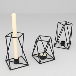 CANDLE HOLDER.JPG Download free OBJ file candle holder • 3D print design, mojtabaheirani